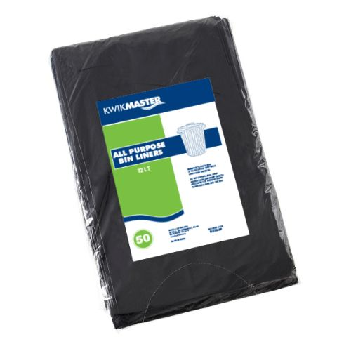 Bin Liner - All Purpose Black 72LT product photo  L
