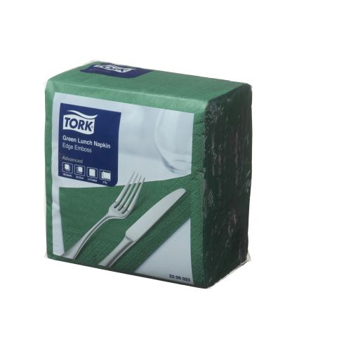 Napkin Lunch 2 Ply 1/4 Edge Green product photo  L