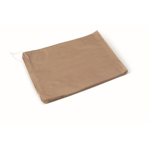 Flat Paper Bag Strung Brown #6 product photo  L