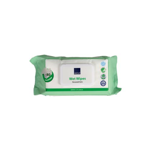 Wet Wipes, 20 x 27cm, 80pc/pack product photo Front View L
