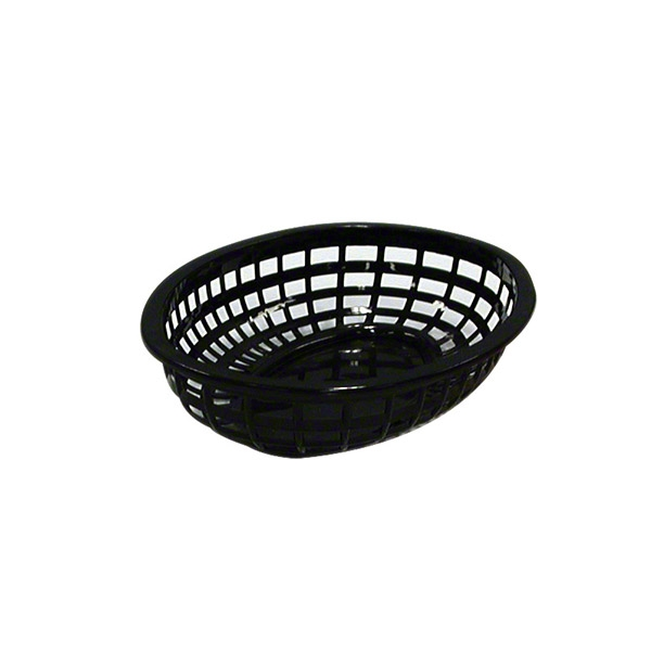 Basket Bread Poly/P Oval Black 240X150 product photo  L