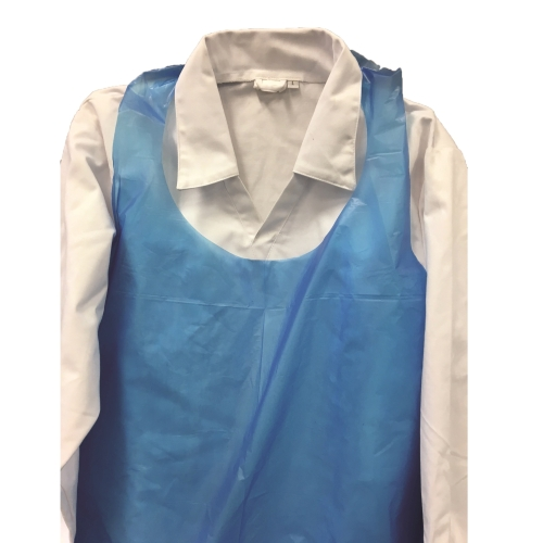 Disposable Apron 850x1500 40um Large Neck Blue product photo  L