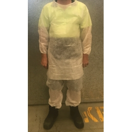 Coverall Top and Bottom PP White Medium product photo