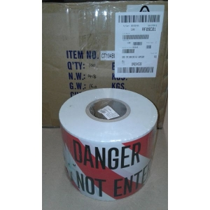 Barricade Tape 150mm 300mtr Red White product photo