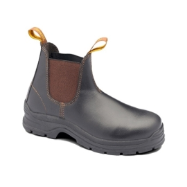 Elastic Sided  Steel Toe Safety Boot Brown product photo