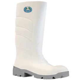 Worklite Steel Toe 400mm Gumboot White Grey product photo