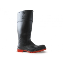 Utility Steel Toe 400mm Gumboot Black Red product photo