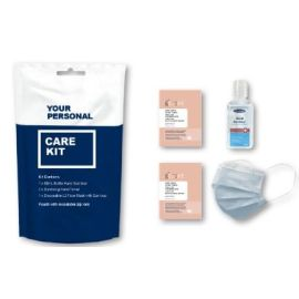 Care Kit with Face Mask Hand wipes 2 Packs and Hand Sanitiser product photo