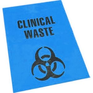Clinical Waste Bin Liner - HDPE, Blue product photo
