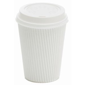 Ripple Wall Hot Cup White 8oz product photo