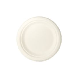 SUGARCANE PLATE ROUND WHITE 7 INCH product photo