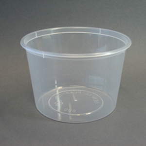 Round Container PP Nat 600mL product photo