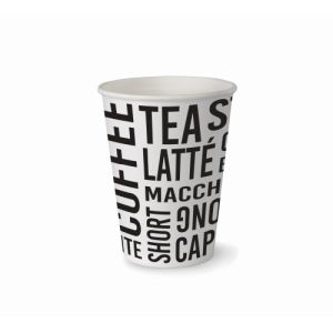 Single Wall Hot Cup Text 12oz product photo