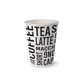 Single Wall Hot Cup Text 6oz product photo