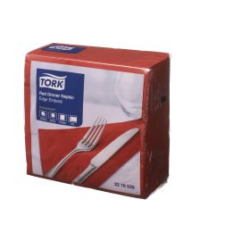 TORK NAPKIN DINNER 2PLY RED 2216539 product photo