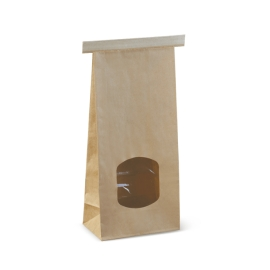 SOS BAG MEDIUM BR WINDOW PLAIN T/TIE product photo