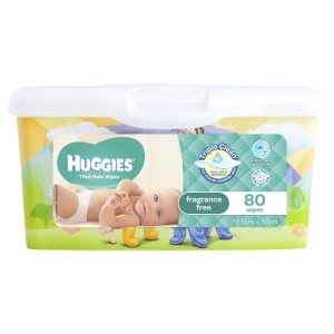 Baby Wipes, 80/Tub product photo