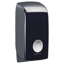 Aquarius Single Sheet Toilet Tissue Dispenser Black product photo