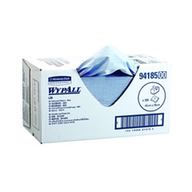 WYPALL WIPER 3PLY EMB BLUE 42X39CM product photo