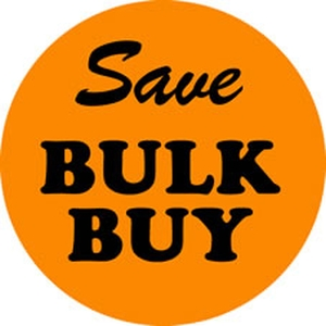 Buy Bulk and Save Fluro Orange Label product photo