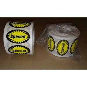 LABEL SPECIAL FLURO YELLOW OVAL product photo