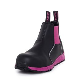 Ladies Fuel Slip On Safety Boot Black Pink product photo