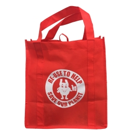 Carry Bag Re-Use Me Red 80gsm product photo