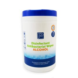 Alcohol Antibacterial Wipe Canister 75 product photo