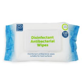 DISINFECTANT ANITBACTERIAL WIPE - ALCOHOL FREE PACK 110 SHEET product photo