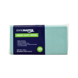 Heavy Duty Wipe Green 60x30cm Pk/25 product photo