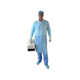Disposable CPE Gown Splash Blue product photo