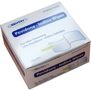 Povidone Iodine Wipes, Antiseptic, 3 x 3cm product photo