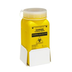 Sharps Container, Screw Lid, Yellow product photo