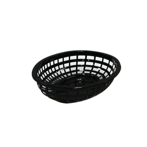 Basket Bread Poly/P Oval Black 240X150 product photo