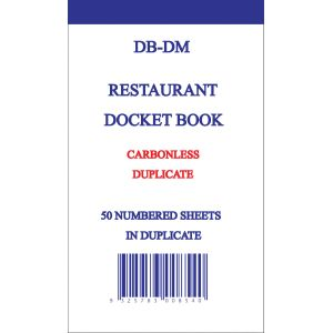 DOCKET BOOK NO7 DUPLICATE 170X100MM 50 SHEET product photo