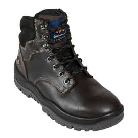 Claret Lace Up Steel Toe Boot Brown product photo